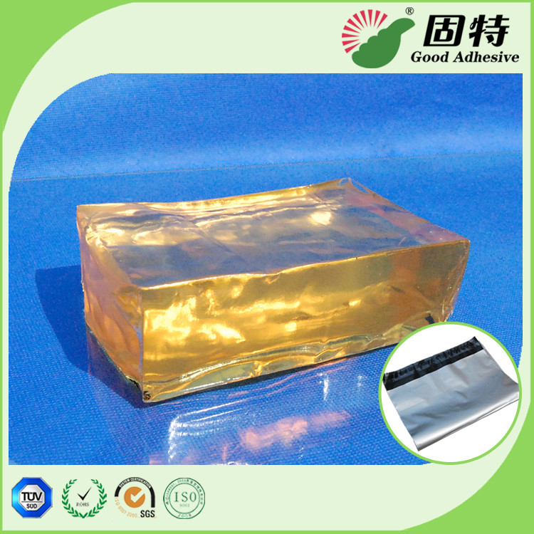 Yellow PSA Hot Melt Adhesive Synthetic Polymer Resin For Courier Bag Sealing