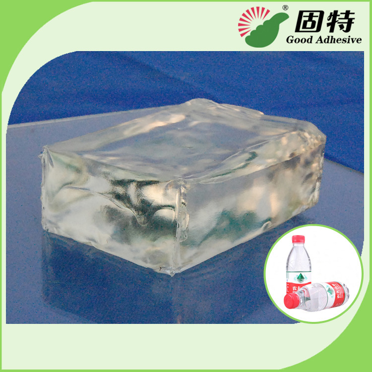 Colorless Transparent Hot Melt Pressure Sensitive Adhesive For labeling on plastic bottles of mineral water, beverage, e